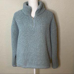 Thread & Supply Fleece Sage Green 3/4 Zip